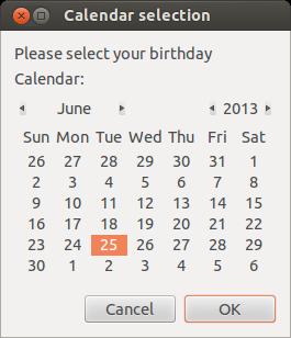 Zenity calendar prompt