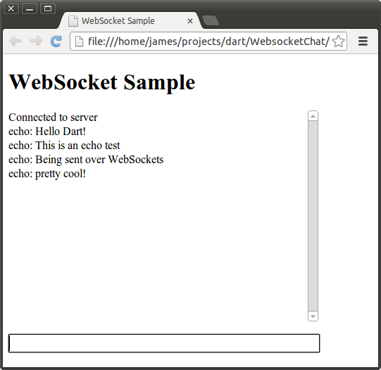 WebSocket programming with Dart 1 1